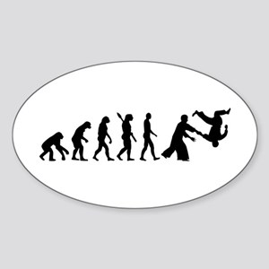 Evolution Aikido Sticker (Oval)